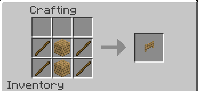 How to make Gate in Minecraft